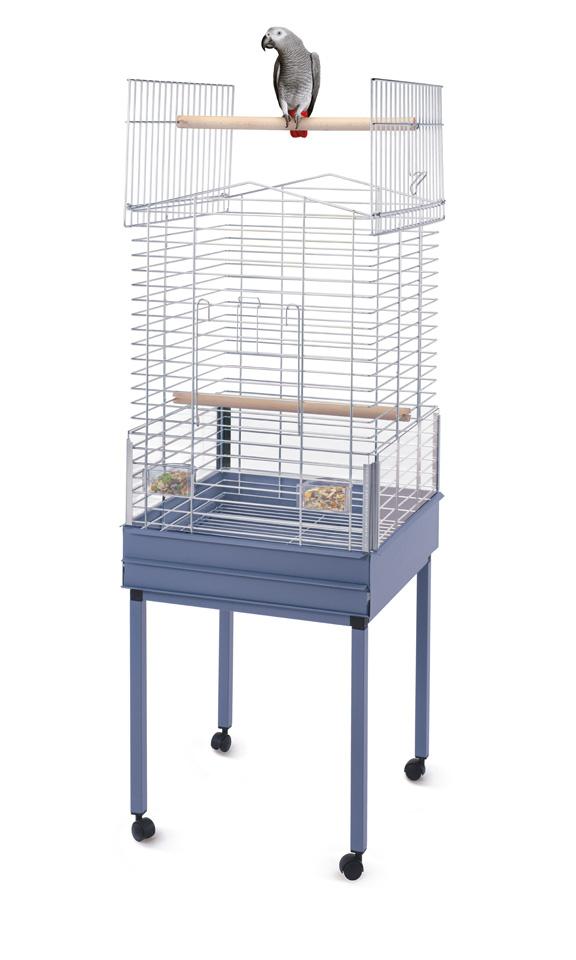 Имак Клетка Ezia Special для средних и крупных птиц, 57*54*82/138 см, голубой с лиловым оттенком поддон/хромированная решетка, Imac