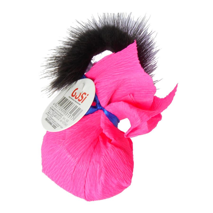 Игрушка Шуршащий шар с хвостиком из меха норки в бумажном мешке, диаметр 5 см, GoSi