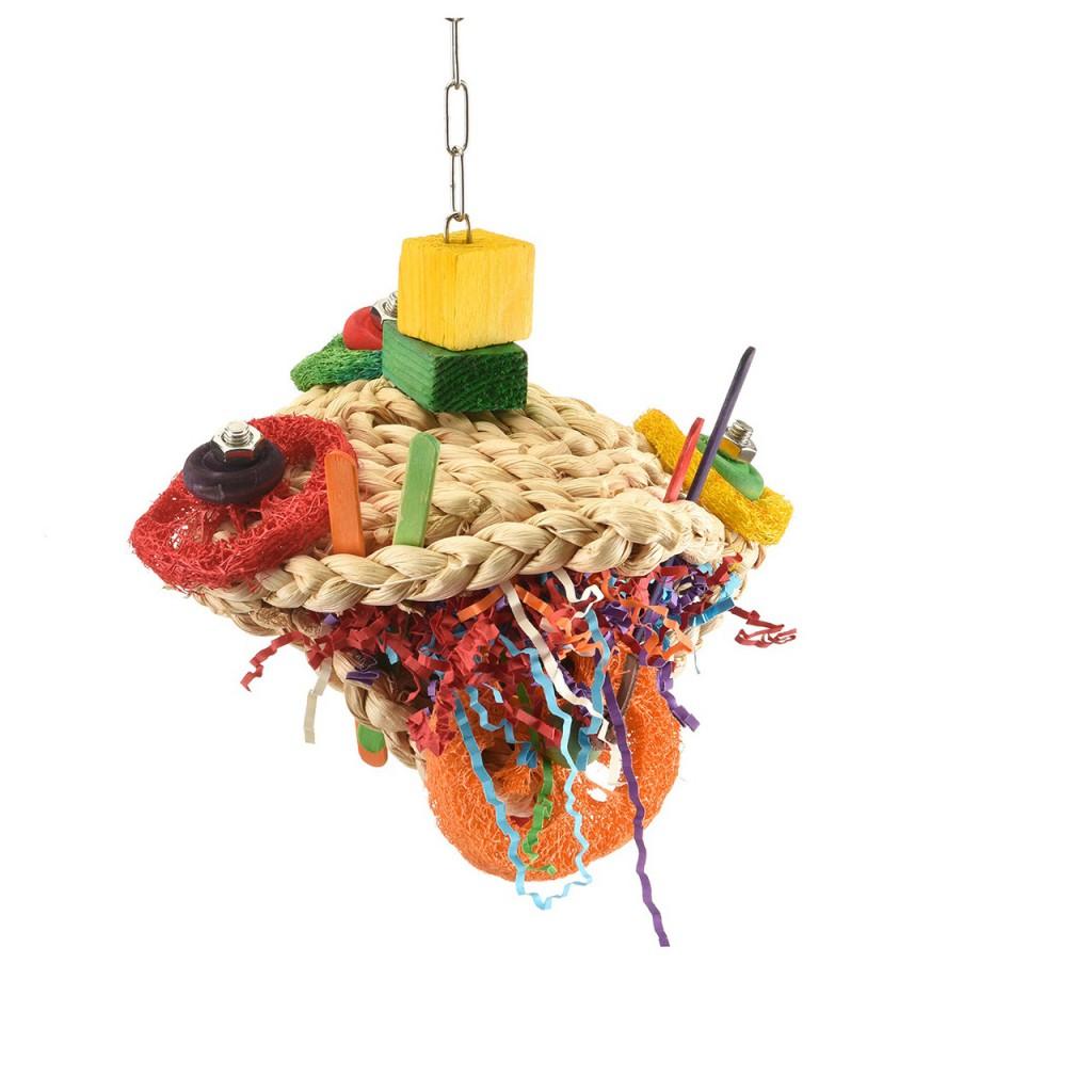 Хеппи Берд Игрушка для средних и крупных птиц Счастливая лягушка, 17*13*20 см, Happy Bird