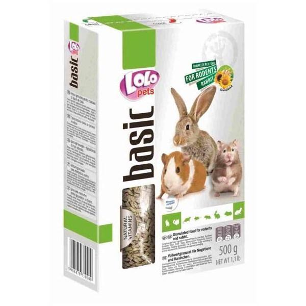 ЛолоПетс Гранулированный корм для грызунов и кроликов LO-71000, 500 г Lolo Pets