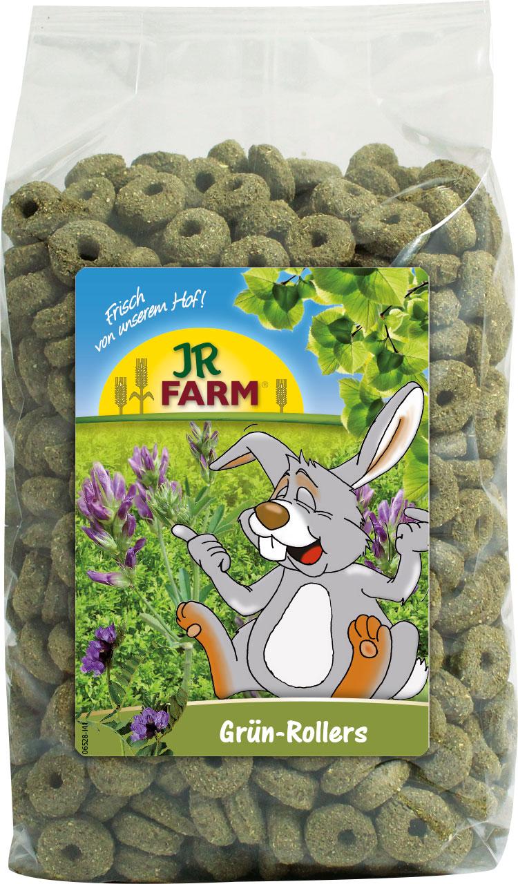 JR Farm Корм Grun-Rollers Зеленые колечки для грызунов, 500 г