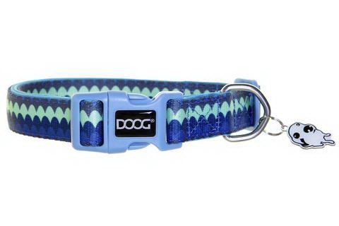 Дуг Ошейник Pluto для собак, нейлон/неопрен, в ассортименте, синий с узором, Doog