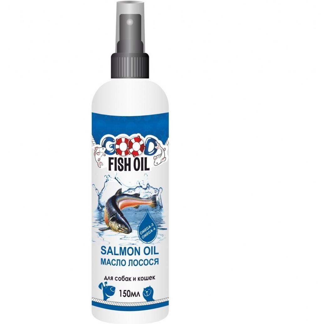 Гуд Дог/Кет Лососёвое масло Good Fish Oil для собак и кошек 150 мл, спрей, Good Dog/Cat