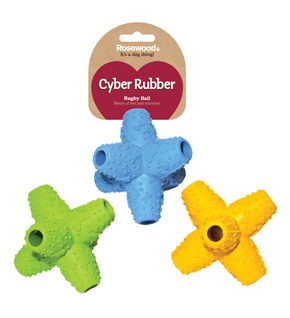 Роузвуд Игрушка для собак Сyber Rubber Звезда, в ассортименте, резина, Rosewood