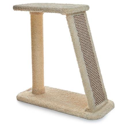 Сайвал Комплекс-когтеточка Farna для кошек 73*37*82 см в ассортименте, ковролин/сизаль, Saival