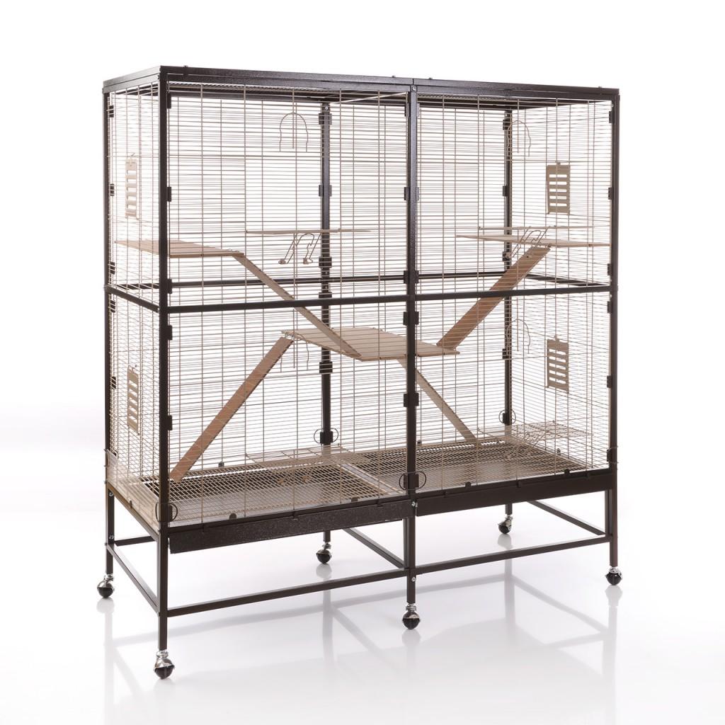 Монтана Клетка для грызунов и мелких птиц Sevilla 150, 91*60*160 см, Choco-Vanilla, Montana