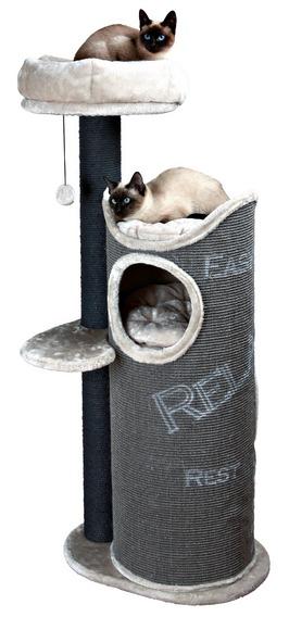 Трикси Дом-башня для кошки Juana, серый, 57*46*134 см, Trixie