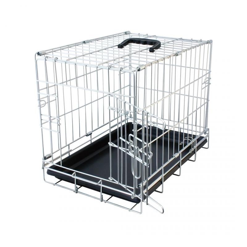 Дуво+ Клетка металлическая Pet Kennel однодверная, 47*30*37 см, в ассортименте, DUVO+