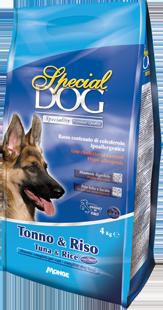 Корм Special Dog корм для собак с чувствительной кожей и пищеварением Тунец/Рис, в ассортименте, Monge