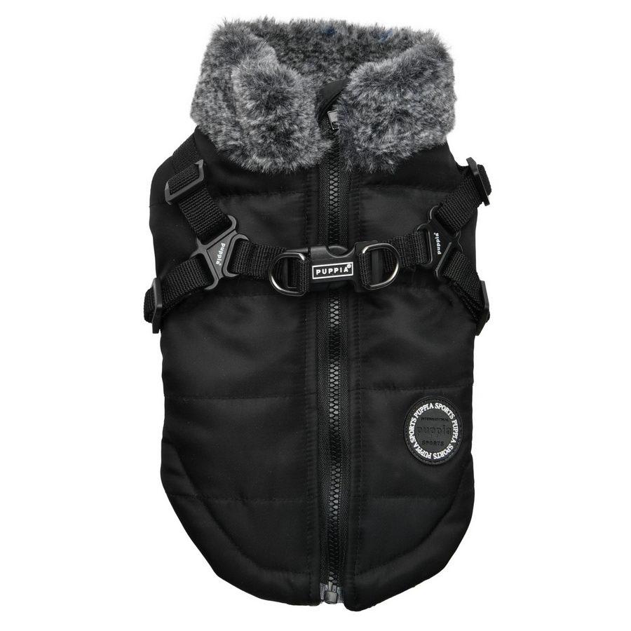 Паппи Куртка со встроенной шлейкой Donavan в ассортименте, черная, Puppia