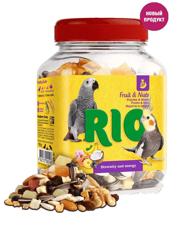 Рио Фруктово-ореховая смесь для средних и крупных птиц, 160 г, Rio