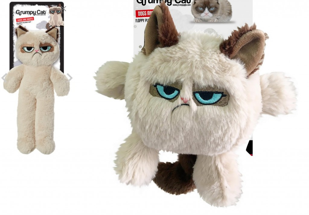 Роузвуд Игрушка для собак Сердитый кот в ассортименте, бежевый, полиэстер, Rosewood