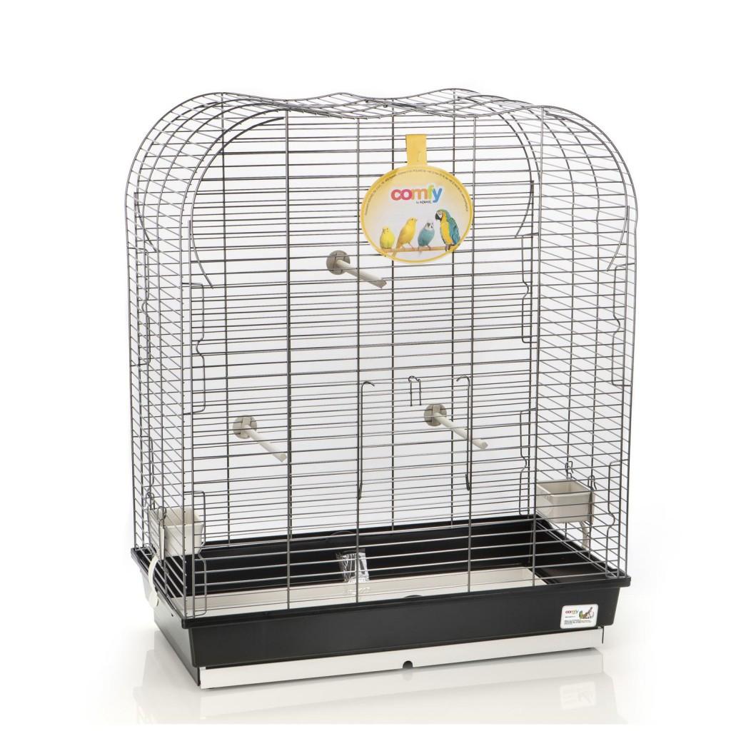 Комфи Клетка для птиц SATURNO 65*36*77 см черный поддон, Comfy