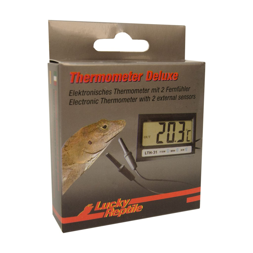 Лаки Рептайл Термометр электронный Deluxe с 2 датчиками, Lucky Reptile