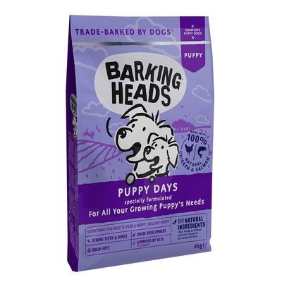 Баркинг Хедс Корм беззерновой для щенков всех пород Щенячьи деньки (Puppy Days), Курица/Лосось, в ассортименте, Barking Heads