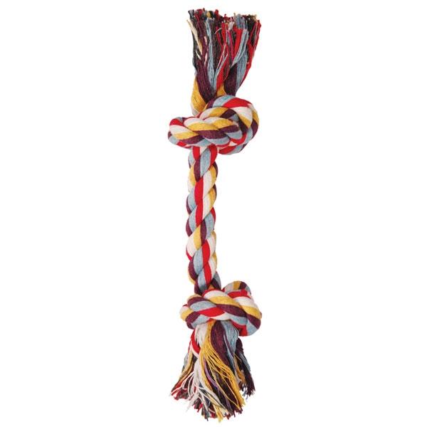 Триол Игрушка веревка цветная два узла для собак, хлопок, в ассортименте, Triol
