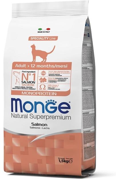 Монже Корм Cat Monoprotein Adult Salmon для кошек Лосось, в ассортименте, Monge