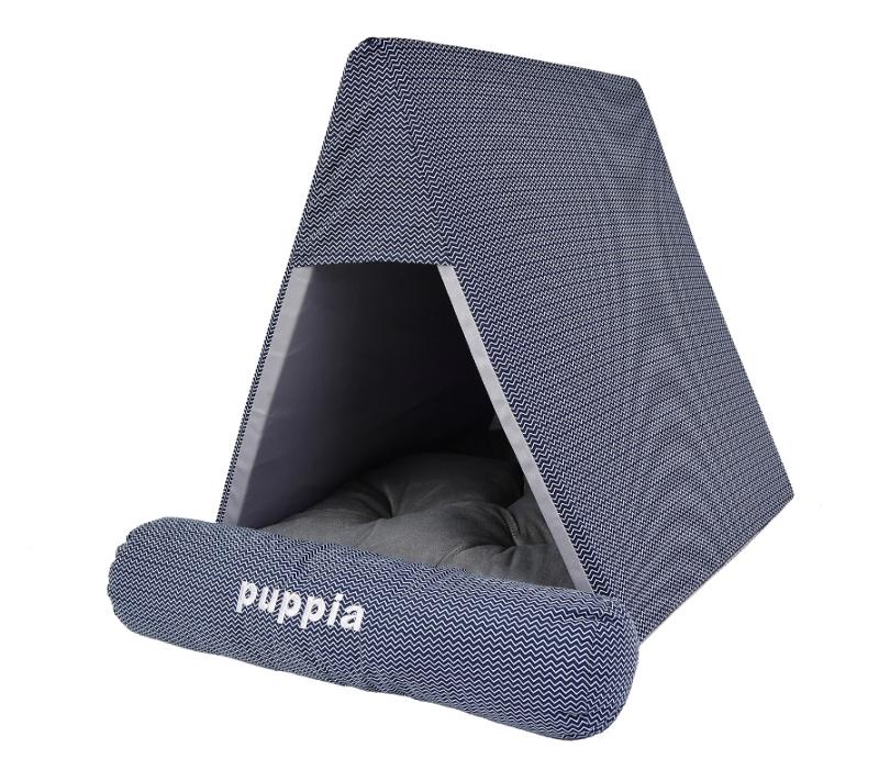 Паппи Домик-пещера Wave Check для кошек и собак, 45*50*38 см, синий, Puppia