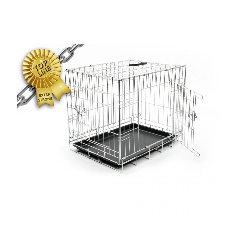 Дуво+ Клетка металлическая Pet Kennel двухдверная серебристая, в ассортименте, DUVO+