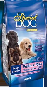 Корм Special Dog для щенков всех пород Курица/Рис, в ассортименте, Monge