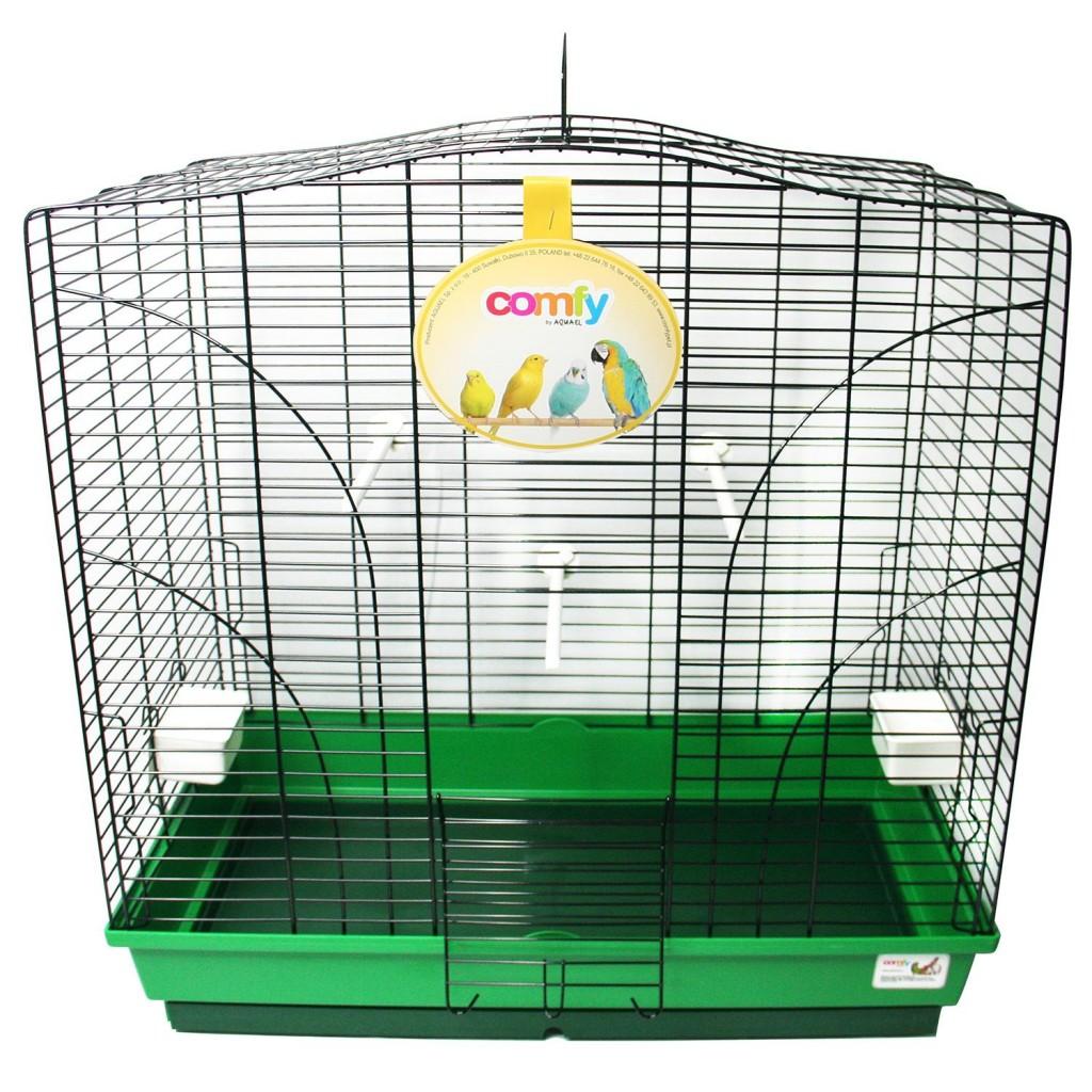 Комфи Клетка для птиц Viola 66*36*66 см черные прутья/зеленый поддон Comfy
