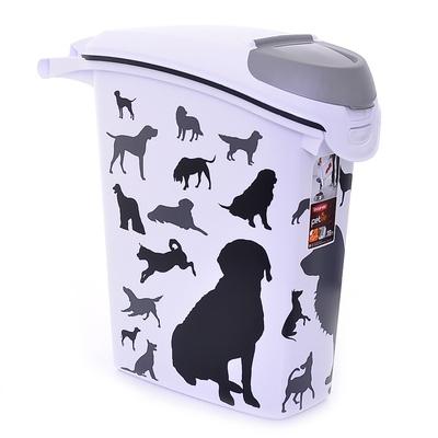 Корвер Контейнер для хранения сухого корма черно-белый Собаки, объем 23 л, 23*50*50 см, Curver