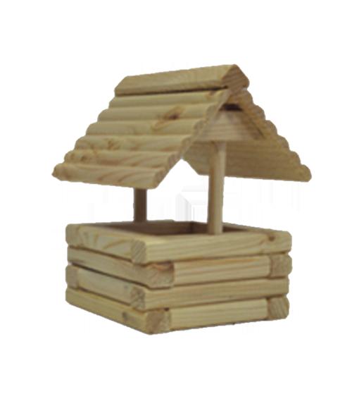 Грин Фарм Деревянная игрушка Лаз-колодец для мелких грызунов 14*13*17 см, Green Farm