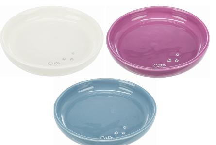 Трикси Неглубокая керамическая миска XXL для кошек, цвета в ассортименте, Trixie