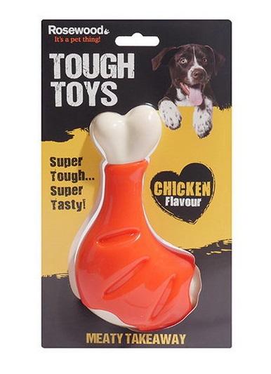 Роузвуд Игрушка Tough Toys Chicken Leg Бедро куриное с ароматом курицы, в ассортименте, Rosewood