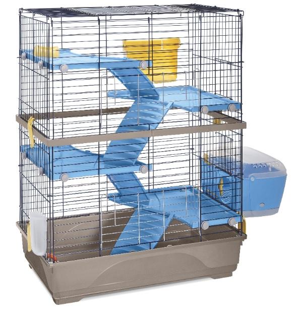 Имак Клетка для грызунов и хорьков Double, 80*48,5*104 см, красный или серый поддон, Imac