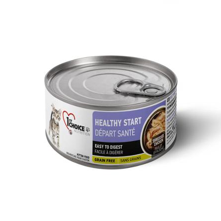 Фест Чойс Консервы Healthy Start (Здоровый старт) для котят Grain Free Курица в масле тунца 24*85г 1st Choice