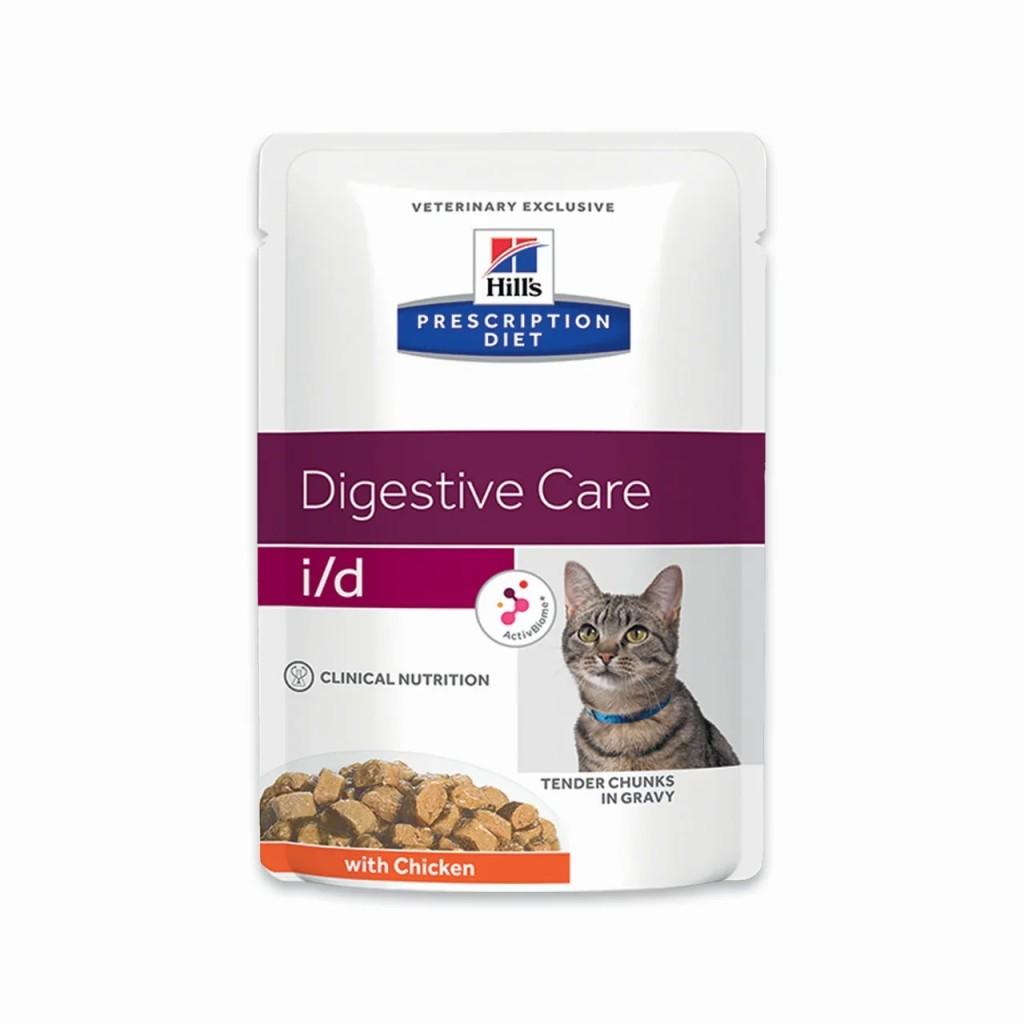 Хиллс Паучи Prescription Diet i/d для кошек при заболеваниях ЖКТ, в ассортименте, 12*85 г, Hills