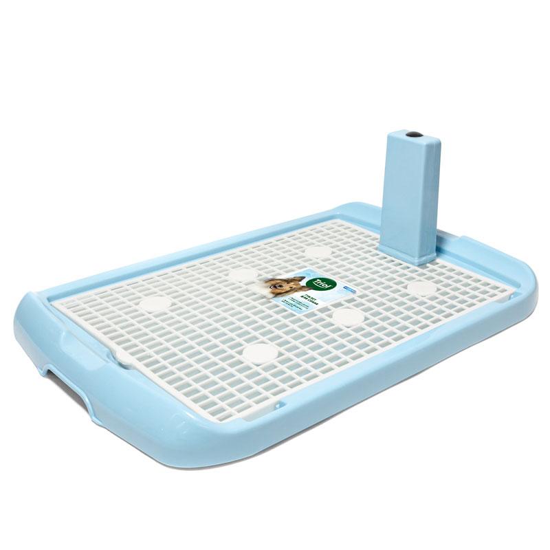 Триол Туалет PL002 для собак, со столбиком и сеткой, 60*40*4 см, в ассортименте, Triol