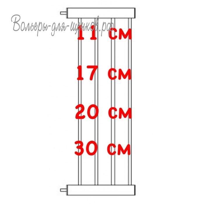 Доглэнд Расширитель для межкомнатной перегородки DG-11 и Crystal DG-11 высотой 76 см, в ассортименте, металл, цвет белый, Dog Land