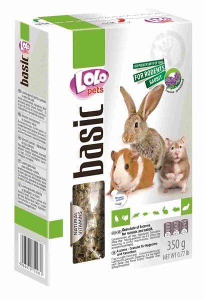 ЛолоПетс Люцерна гранулированная для грызунов и кроликов LO-71003 350 г Lolo Pets