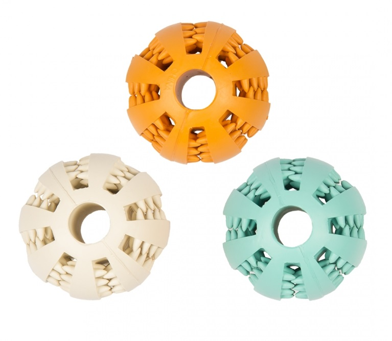 Дуво+ Игрушка для собак Мяч-зубочистик, в ассортименте, резина, Duvo+
