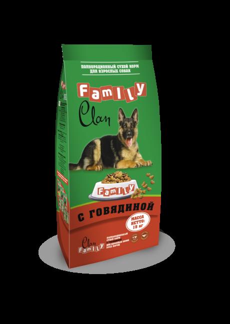 Клан Корм Clan Family для собак, в ассортименте, 15 кг, Clan