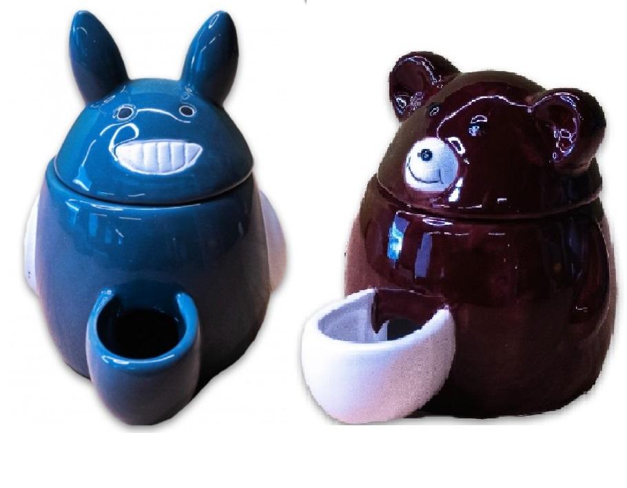 КерамикАрт Автокормушка для мелких животных, 11*8*10 см, керамика, в ассортименте, KeramikArt