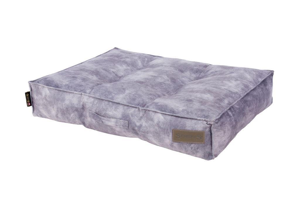 Скрафс Лежак-матрас Kensington экозамша серый, в ассортименте, Scruffs