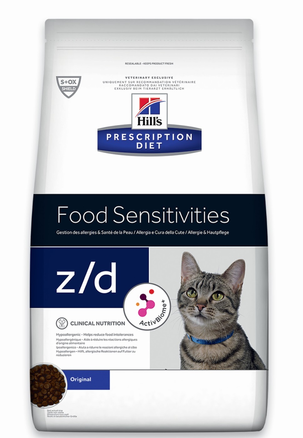 Корм Хиллс Prescription Diet z/d для кошек при пищевых аллергиях, 2 кг, Hills