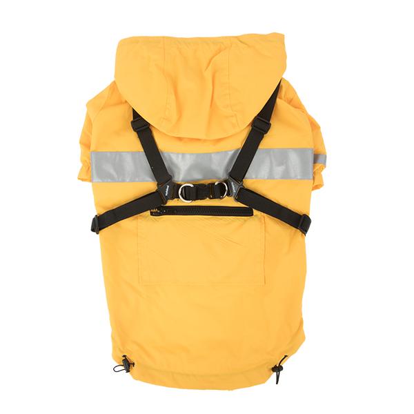 Паппи Дождевик Wilderness с капюшоном и шлейкой, в ассортименте, желтый, Puppia
