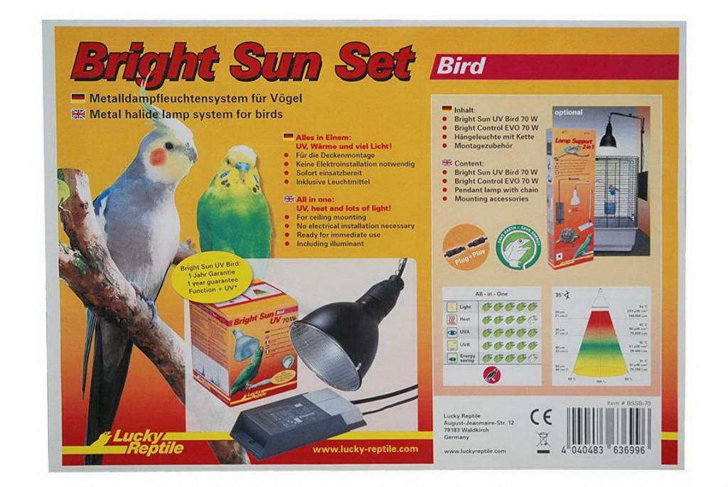 Лаки Рептайл Комплект освещения для птиц 3в1 Bright Sun Set Bird 70W, Lucky Reptile