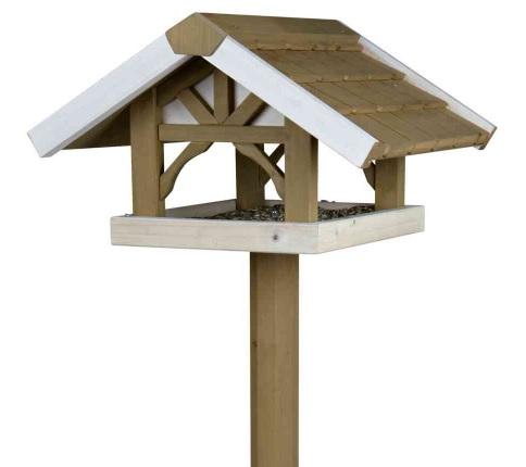 Трикси Кормушка деревянная с подставкой для птиц и грызунов, 45*44*28 см, высота 1,25 м, Trixie