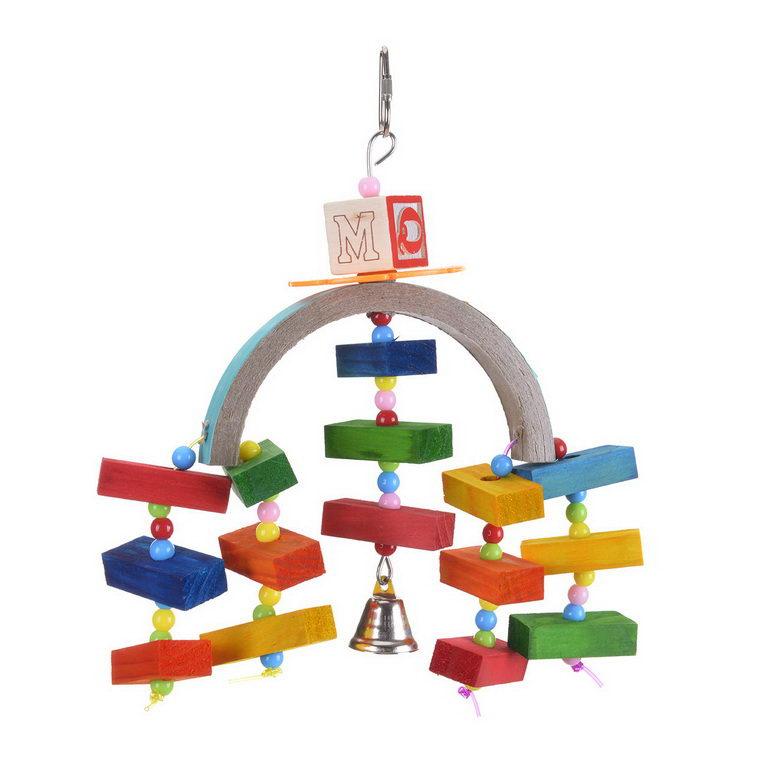 Хеппи Берд Игрушка Rainbow Bridge для средних и мелких птиц, 25*15 см, Happy Bird