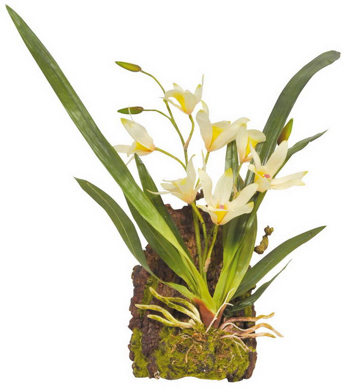 Лаки Рептайл Декоративное растение Hanging Orchid белое, 40 см, Lucky Reptile