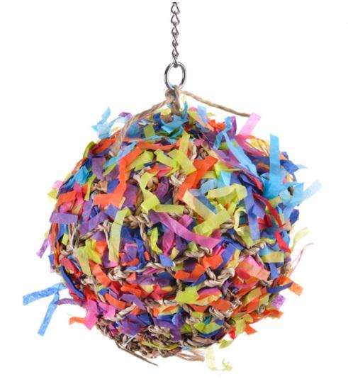 Хеппи Берд Игрушка фуражилка для птиц Шар-праздник, 20*38 см, Happy Bird
