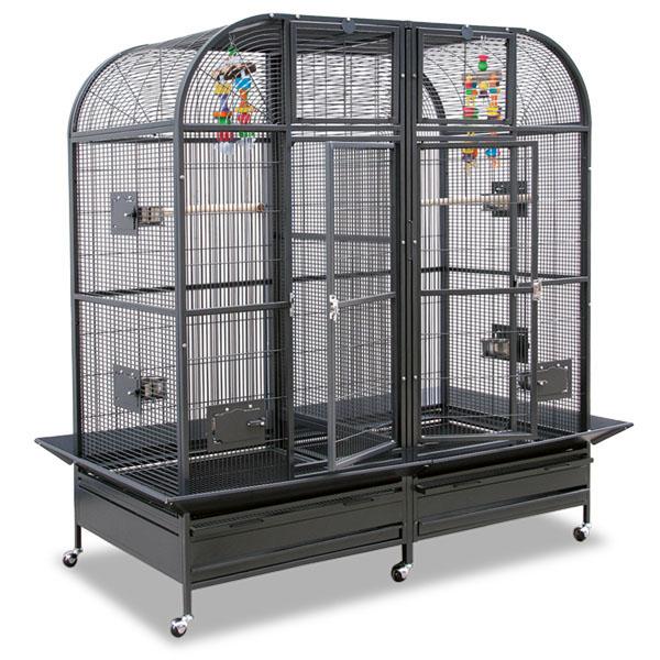Монтана Клетка двойная с выдвижной перегородкой для мелких и средних птиц, грызунов Palace II, 163*81*180 см, в ассортименте, Montana
