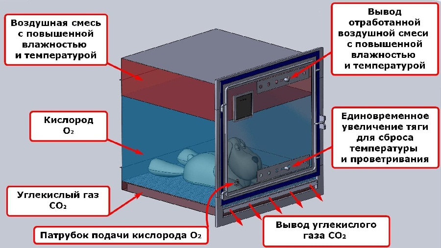 ТД ВЕТ Кислородная камера 70*70*70 см в ассортименте