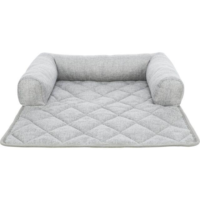 Трикси Лежак Nero на диван с валиком и защитной частью светло-серый, в ассортименте, съемный чехол, Trixie