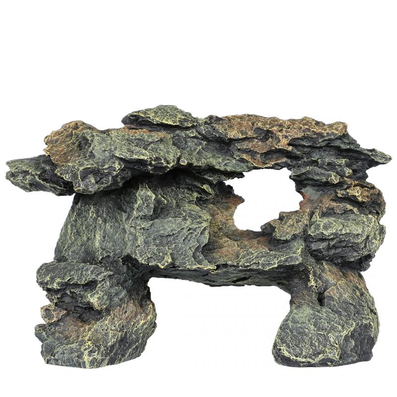 АкваДелла Декорация для аквариума Камень Сланец серый 26,5*17,5*19 см, AquaDella